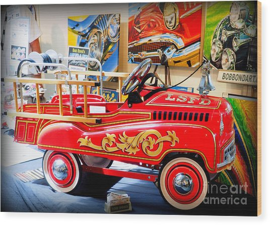 Peddle Car 1 Wood Print