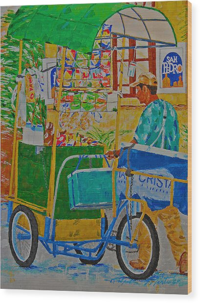 Peddling For Ones Visual Appetite Wood Print