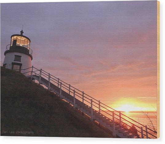 Peeking Sunrise Wood Print