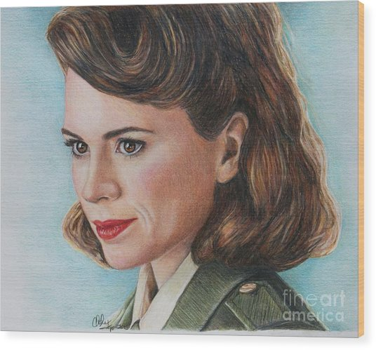 Peggy Carter / Hayley Atwell Wood Print
