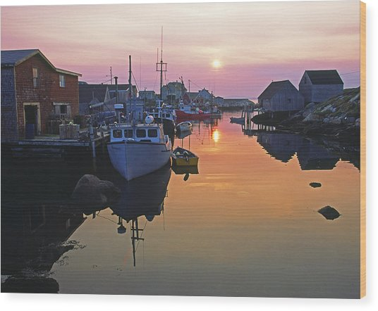Peggy's Cove, Nova Scotia, Canada Wood Print