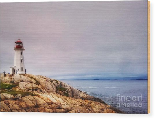 Peggys Point Lighthouse Wood Print