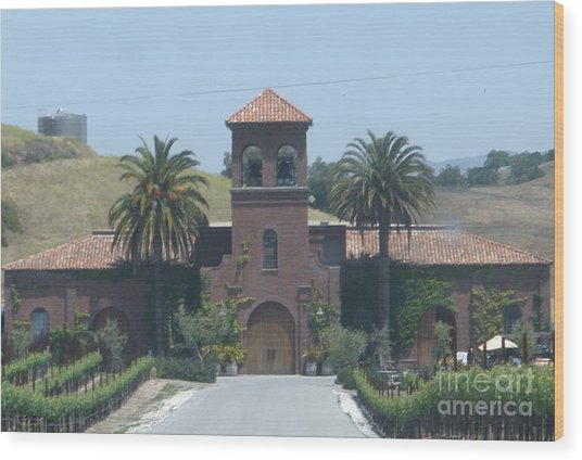 Peitre Santa Winery Wood Print