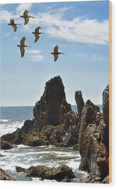 Pelican Inspiration Wood Print