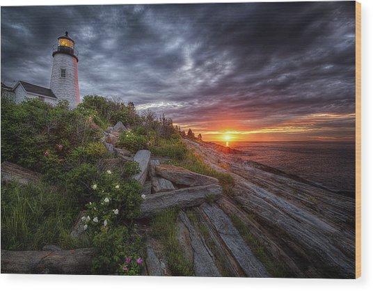 Pemaquid Sunrise Wood Print