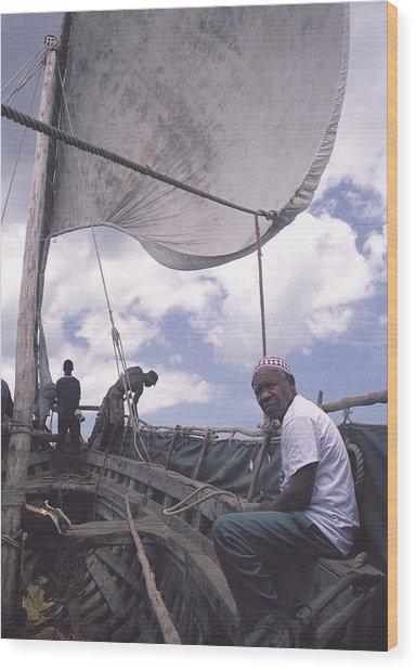 Pemba Boat Wood Print by Marcus Best