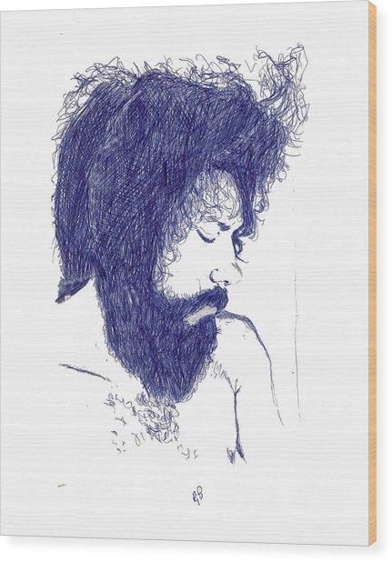 Pen Portrait Wood Print