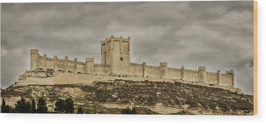 Penafiel Castle, Spain. Wood Print