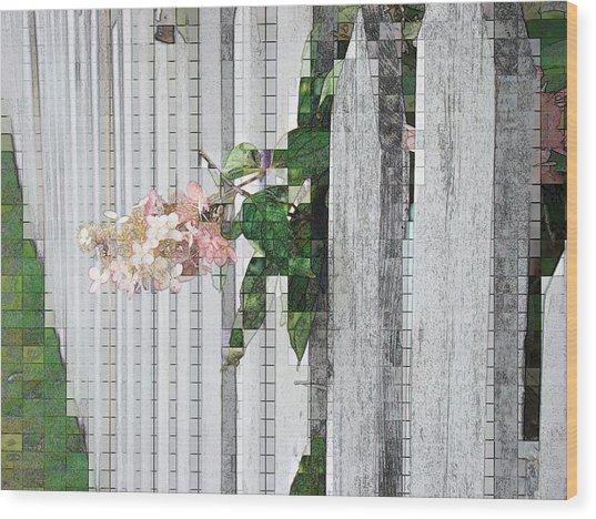 Pencil Mosaic Wood Print by Tingy Wende
