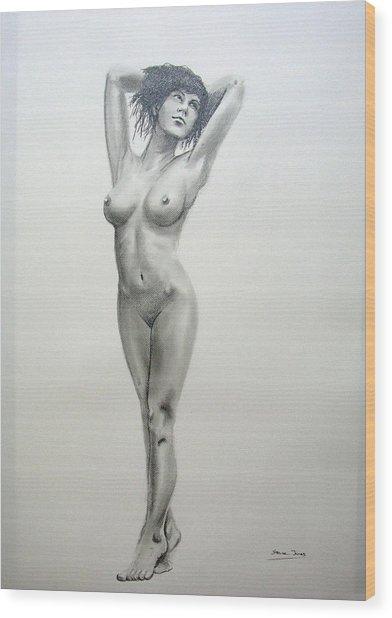 Pencil Nude 14 Wood Print