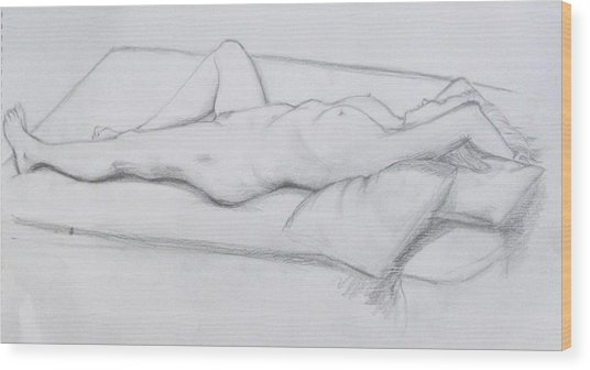 Pencil Sketch 1.2011 Wood Print