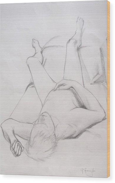 Pencil Sketch February 2011 Wood Print