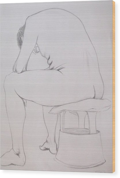 Pencil Sketch March 2011 Wood Print