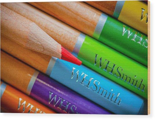 Pencils 3 Wood Print