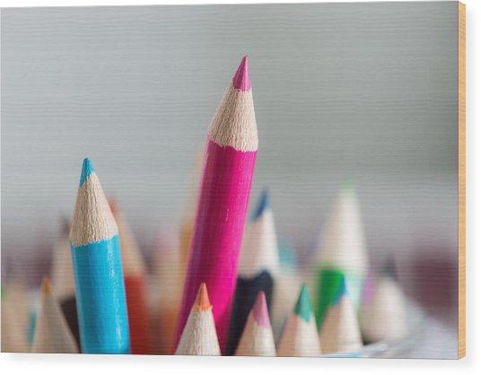 Pencils 4 Wood Print
