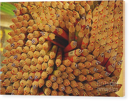 Pencils Pencils Everywhere Pencils Get The Point...lol Wood Print