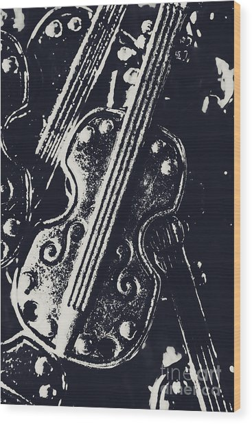 Pendanting A Classical Song Wood Print