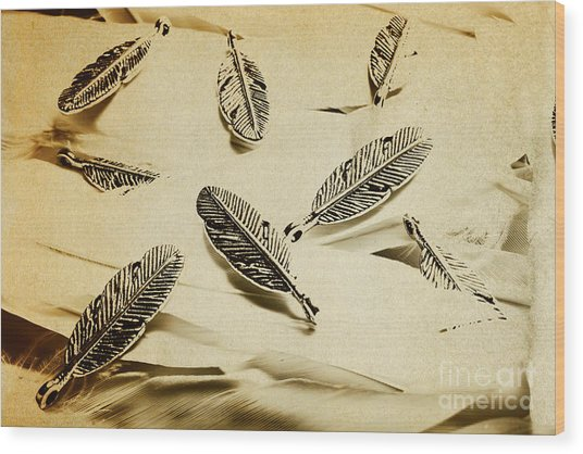 Pendants And Quills Wood Print
