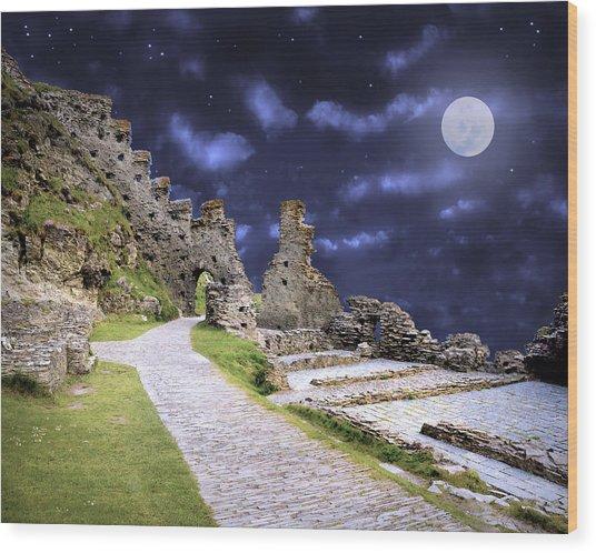 Pendragon Moon Wood Print