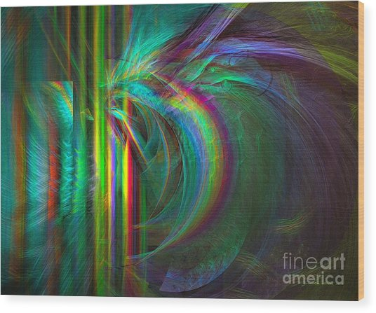 Wood Print featuring the digital art Penetrated By Life - Abstract Art by Sipo Liimatainen