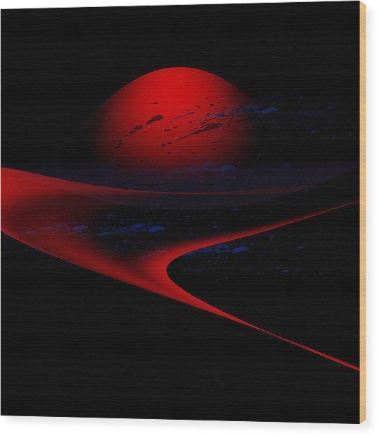 Penman Original-347 Cosmic Curve Wood Print