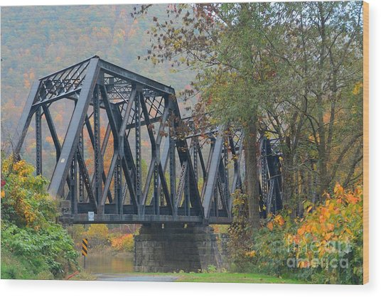 Pennsylvania Bridge Wood Print