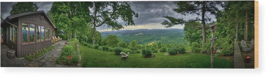 Pennsylvania Overlook Wood Print