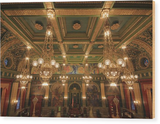 Pennsylvania Senate Chamber Wood Print