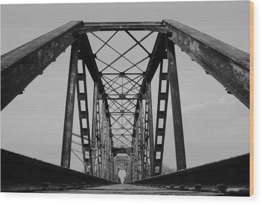 Pennsylvania Steel Co. Railroad Bridge Wood Print