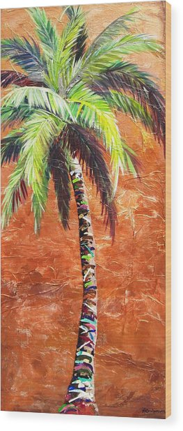 Penny Palm Wood Print