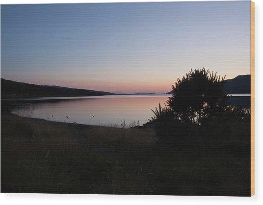 Pennyghael Sunset Wood Print