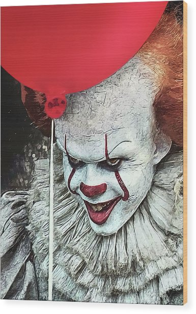 Pennywise Wood Print