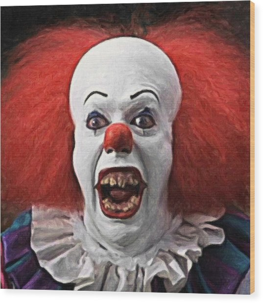 Pennywise The Clown Wood Print