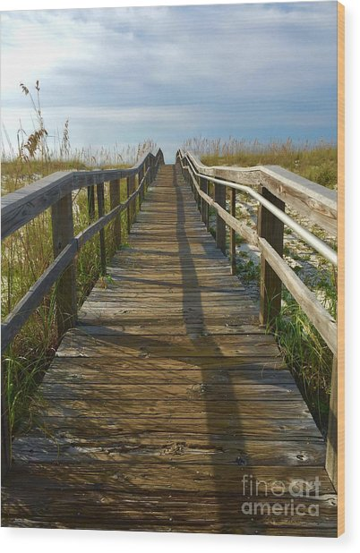 Wood Print featuring the painting Pensacola Florida A52516 by Mas Art Studio