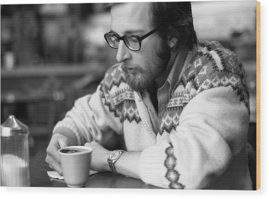 Pensive Brown Student, Louis Restaurant, 1976 Wood Print