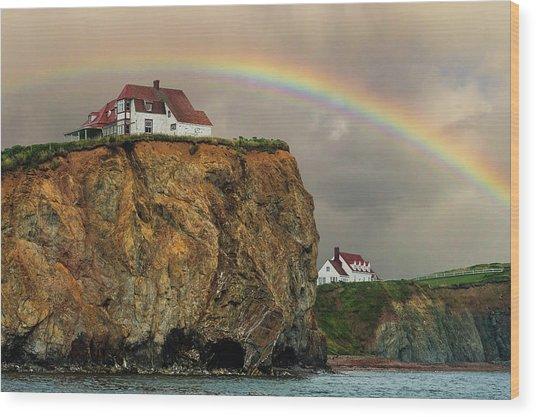 Perce Rainbow Wood Print