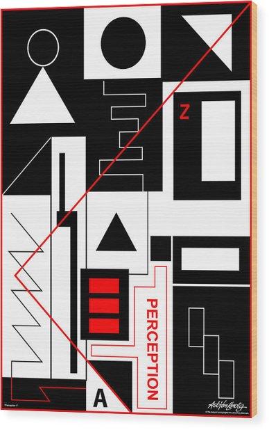 Perception I - Text Wood Print by Asbjorn Lonvig