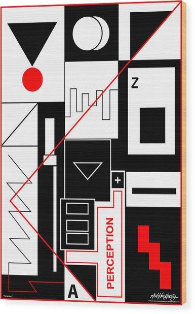 Perception II - Text Wood Print by Asbjorn Lonvig