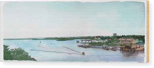 Perdido Key Bay Wood Print