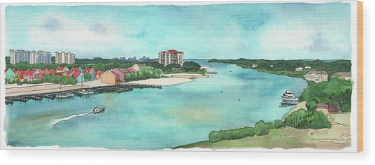 Perdido Key River Wood Print
