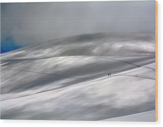 Perennial Glacier Wood Print