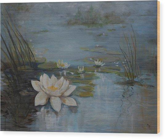 Perfect Lotus - Lmj Wood Print
