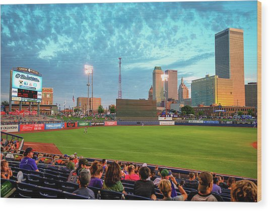Oneok Stadium - Tulsa Drillers Stadium View Wood Print