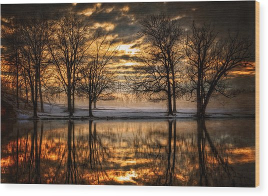Perfect Sunset Wood Print