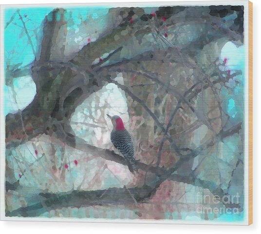 Perfect View Wood Print by Gina Signore