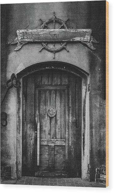 Perkins And Sons Door Wood Print