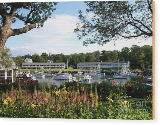 Perkins Cove Wood Print
