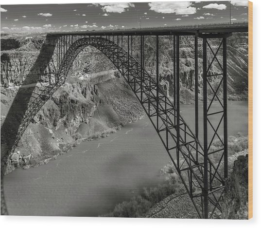 Perrine Bridge, Twin Falls, Idaho Wood Print