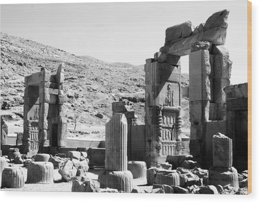 Persepolis Wood Print by Tia Anderson-Esguerra