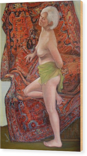 Persian Rug 4 Wood Print